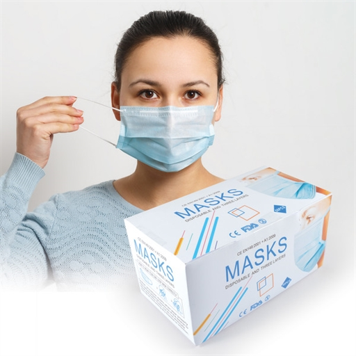 Disposable 3 Ply Face Mask -  Bulk