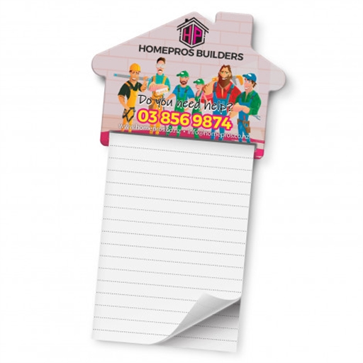 Magnetic House Memo Pad - A7