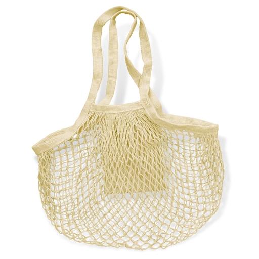 Cotton Mesh Foldaway Tote Bag