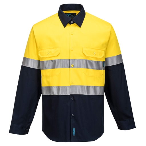 Hi-Vis Two Tone Regular Weight Shirt with Tape - S/S