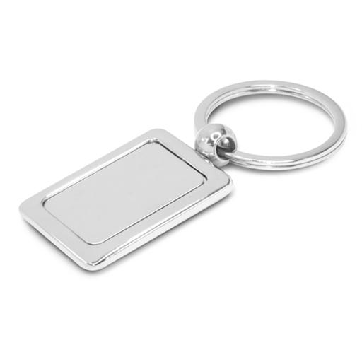Rectangular Metal Key Ring