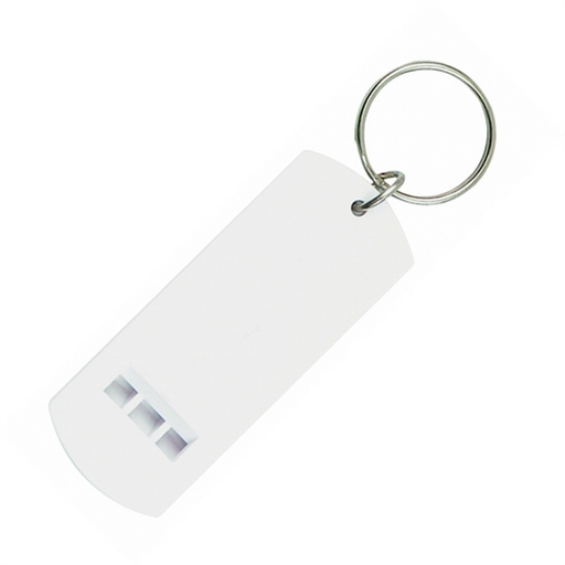 Plastic Whistle Keychain