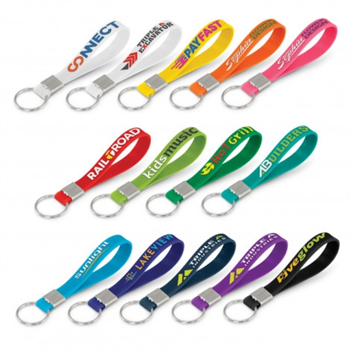 Silicone Key Ring - Embossed