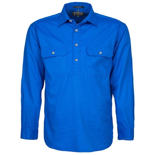Mens Pilbara Closed Front Work Shirt