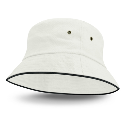Bondi Premium Bucket Hat - Black Sandwich Trim